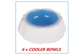 6 x Pet Cooling Bowl Freezable Chilled Cold Water Bowl Summer Chilled Frozen Dog Cat