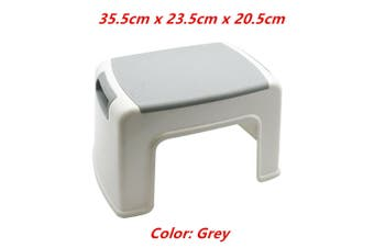 1 x Grey Multipurpose Single Step Stool Grey Blue Portable Ladder Chair Plastic