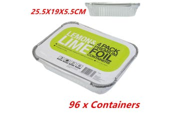 96 x Aluminium Foil Tray Disposable Takeaway BBQ Foil Trays food Container