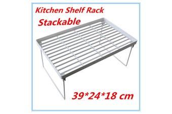 24 x Large Kitchen Pantry Plastic Shelf Rack Food storage Organiser Bathroom Office FD