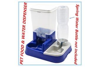 Automatic Pet Food Water Dispenser Feeder Set Dog Cat Self Feeding Food Bowl FD