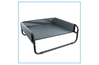 Bed Elevated Pet Dog Cot Outdoor Indoor Large Raised Frame Steel Walled 70cm W