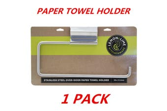 1 x Stainless Steel Over Cabinet Door Paper Towel Roll Holder Rack Kitchen 30.5x12cm