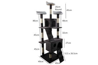 1.7M Cat Tree Play House Sisal Scratching Post Pole Tower Scratcher Furniture