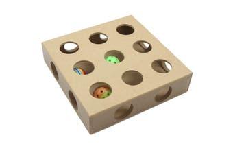 Hide N Seek Cat Play Box Kit Pet Toy Kitten Toys Interactive Ball Peek Hunting