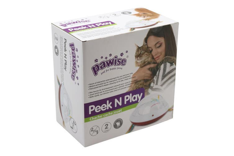 Electronic Interactive Cats Cat's Meow Toys Peek and Play Cat Tease Toy Ball FD