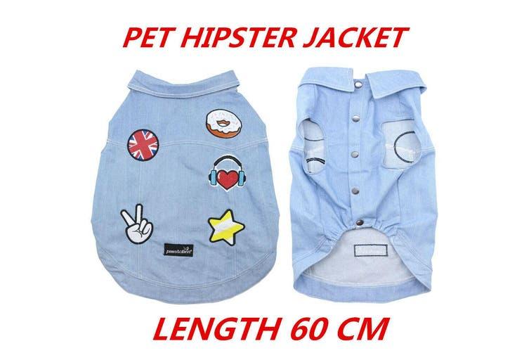 Dog Hipster Jacket Coats Pet Puppy Flexible Warm Washable Vest Clothes Cute 60cm
