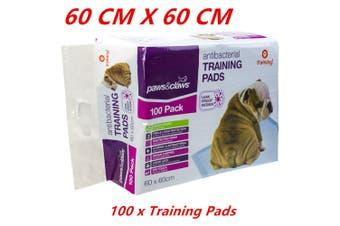 100 x Pet Dog Puppy Indoor Cat Toilet Training Pads ANTIBACTERIAL Absorbent 60x60cm