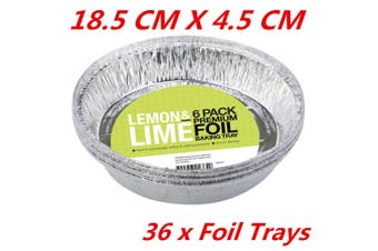 36 x Extra Deep Round Foil Pie Pan Disposable Baking Aluminum Foil Trays Pan Dish