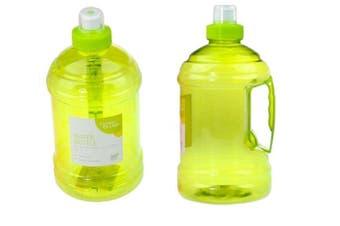 1 LITER YELLOW BPA FREE SPORTS WATER BOTTLE W/ HANDLE GYM BIKE TRAINING DRINK FD