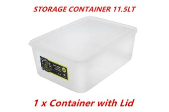 1 x 11.5L Rectangle Stack-able Plastic Food Storage Container Box Lid BPA Free WMCV
