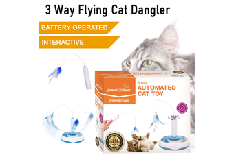 Battery Operated Cat Interactive Dangler Toys Teaser Feather Kitten Activity
