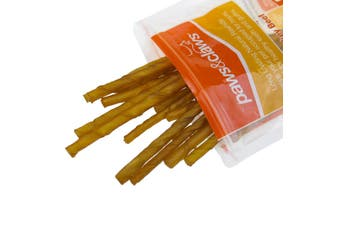 60 x NATURAL SMOKEY BEEF RAWHIDE TWIST STICKS CHEWS DOG TREAT ADULT PUPPY 12.5cm