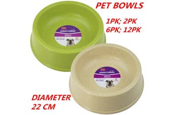 12 x Bamboo Fibre Pet Dog Cat Puppy Kitten Animal Bowl Water Food Dine Feeder Dish