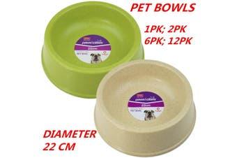2 x Bamboo Fibre Pet Dog Cat Puppy Kitten Animal Bowl Water Food Dine Feeder Dish