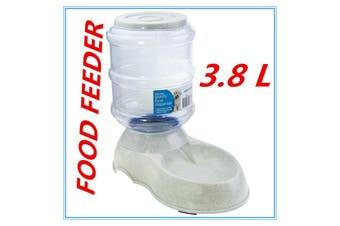 Automatic Pet Food Dispenser 3.8L Feeder Gravity Fountain Plastic Bowl Cat Dog