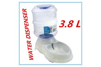 3.8L Automatic Plastic Pet GRAVITY Dog Cat Water Feeder Bowl DRINK Fountain Dispenser
