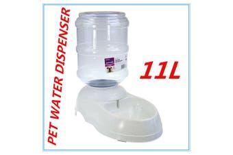 Automatic Plastic Pet Dog Cat Water GRAVITY Feeder Bowl Fountain Dispenser