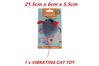 Rodent Vibrating Cat Toy 21.5X6X5.5CM Mouse Mice Soft Plush Interactive Kitten