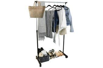 Steel Single Bar Adjustable Height Clothes Garment Coat Rack Quality 82x150cm