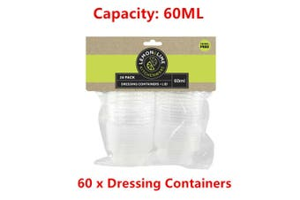 60 x Dressing Containers Food Sauce Catering Take Away Table Storage Dip Salad