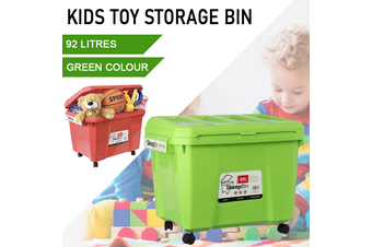 Green Kids Toys Storage 92L Container Bins Organiser Chests Cabinet Box Basket Tub