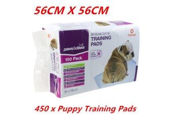 450 x Pet Dog Puppy Indoor Cat Toilet Training Pads ANTIBACTERIAL Absorbent 56x56cm