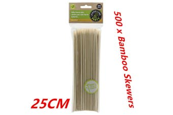 500PCS 25CM Bamboo Skewers Wooden Skewer BBQ Kebab Meat Bulk Cheap Stick Party Catering