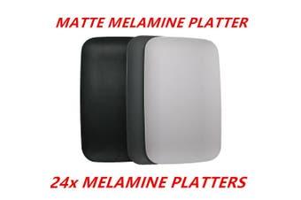 24 x Matte Melamine Serving Platters 40x25cm Kitchen Color Cafe Catering Dinner