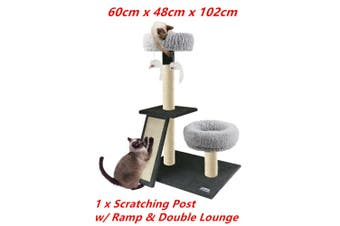 Cat Scratching Post Tower Tree Ramp Lounge House Sisal Pole Scratcher Stand