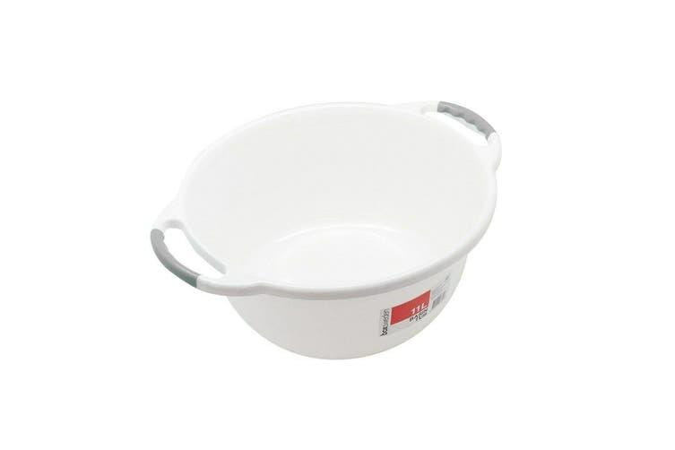3 x Wash Basin Tub 11L Round Ergonomic Handle Container Water Bowl Laundry Bath