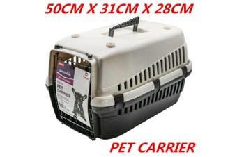 Portable Travel Pet Dog Cat Carrier Crate Airline Transporter Cage Kennel 50 x 31 x 28 CM WITHOUT LOCK GATE