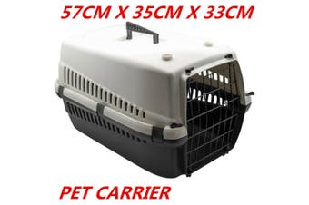 Portable Travel Pet Dog Cat Carrier Crate Airline Transporter Cage Kennel 57 x 35 x 33 CM WITHOUT LOCK GATE