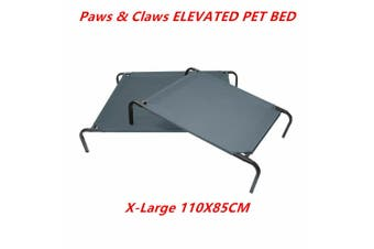 XLarge Elevated Dog Bed Steel Frame Pet Sleep Trampoline Durable Canvas Cool