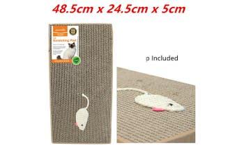 Cat Scratch Pad Scratching Paper Inc Catnip Pet Post Card Board Mat Kitten Bed