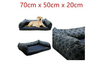 Sofa Pet Bed Dog House Pup Soft Comfort Mattress Cushion Mat Pad Large Lounge