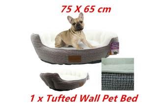 Pet Tufted Wall Lux Bed 75X65CM Cat Dog Mattress Pad Cushion Basket Soft 78884
