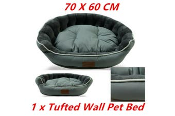 Teal Pet Tufted Wall Lux Bed 70X60CM Cat Dog Mattress Pad Cushion Basket Soft