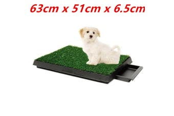 Pet Potty Grass Indoor Waste Tray Training Hygienic Dog Toilet Pad Loo Portable