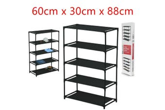 Storage Shelf 5-Tier 60X30X88CM Shoe Footwear Cloth Accessories Shelves Rack