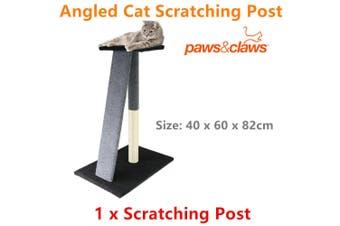 CATSBY Angled Scratching Post Tower Tree Pad Mat Toy Scratcher Pole Bed Scratch