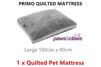 Large PRIMO Quilted Pet Mattress Bed Soft Plush Tile Pillow Cushion Pad Mat Dog Cat