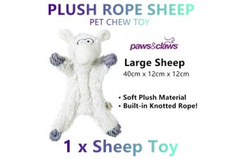 Large Soft Plush Rope Sheep Pet Dog Chew Toys Bite Doll Knotted Training Pillow
