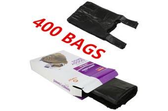 400 x SCENTED DOG PUPPY POO POOP LITTER WASTE CLEAN UP DISPOSAL BAGS BLACK TIE HANDLES