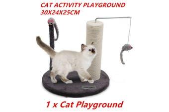 Cat Scratcher Post Activity Playground Sisal Rope Scratching Pet Toy Kitten Tree