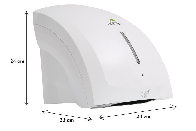 Dolphy ABS Plastic Two Waves Automatic Hand Dryer 1800W - White