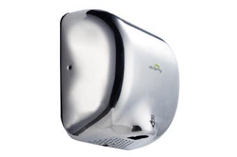 Dolphy Stainless Steel Automatic High Speed Hand Dryer 1800W - Chrome