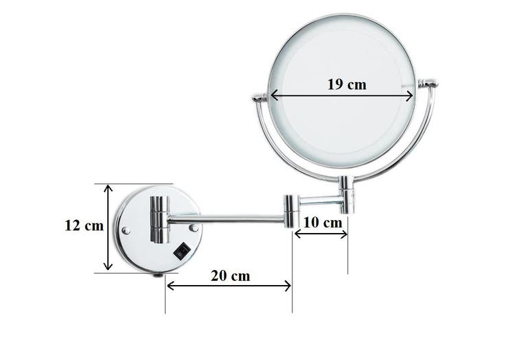 Dolphy 5X LED Magnifying Shaving & Makeup Mirror - 8 Inch