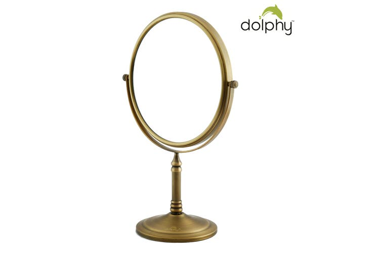 Dolphy 5X Magnification Tabletop Shaving & Makeup Vanity Mirror 8 Inch - Bronze