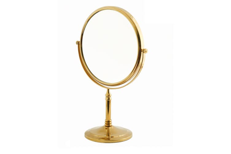 Dolphy 5x Magnification Tabletop Shaving & Makeup Vanity Mirror 8 Inch -  Gold